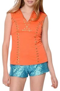 La Cite Sequin Short Sassy Bright Mini/Short Shorts Turquoise