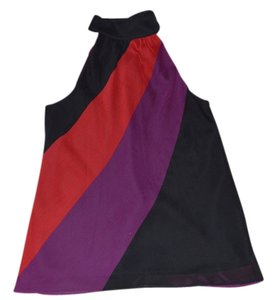 Macy's Red, Purple, Black Halter Top