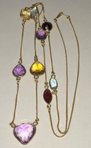 14k Gold,gemstone,necklace,vintage,14k Necklace
