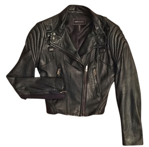BCBGMAXAZRIA Motorcycle Designer Moto Leather Jacket