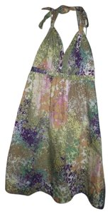 Express short dress Multi-Color Impressionist Art Sun on Tradesy