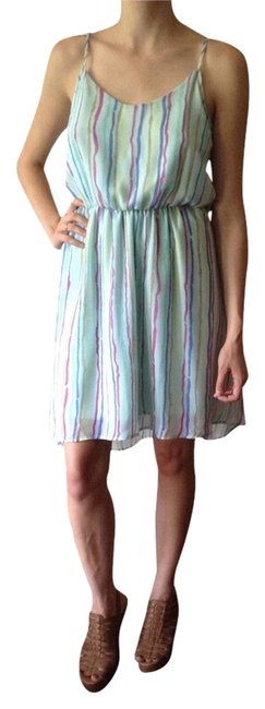 Mostly Blue-Green, But With Multicolored Stripes Maxi Dress by Pins and Needles