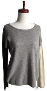 Autumn Cashmere Off The Shoulder Gray Sweater