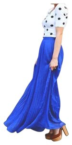 stradivarius Lightweight Maxi Skirt Royal Blue