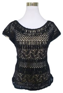 Gaby & Eden Crochet Lace Top Black