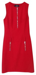 A.B.S. by Allen Schwartz Red Cocktail Office Party Happy Hour Graduation Tank Dress