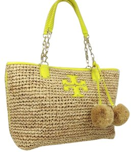 Tory Burch Tote in Natural/yellow
