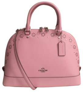 Coach Leather New Nwt Cross Body Satchel in Pink