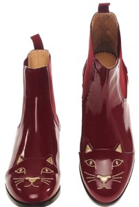 Charlotte Olympia Burgundy Boots