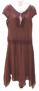 Brown Maxi Dress by Frederick's of Hollywood Asymmetrical