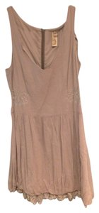 Free People short dress Grey Lace Trim Mini on Tradesy