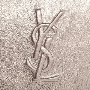 Saint Laurent Convenient Clutch Wristlet in Silver