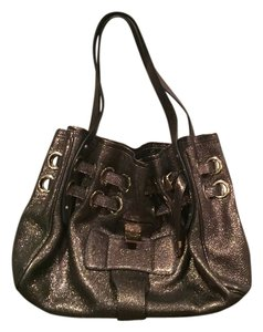 Jimmy Choo Satchel in Brown/multicolor shimmer