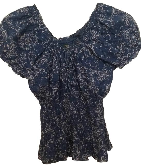 Ralph Lauren Top blue paisley