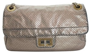 Chanel Metallic Perforated Lambskin Flap Shoulder Bag