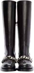 Givenchy Boot Tall Leather Rocker Black Boots