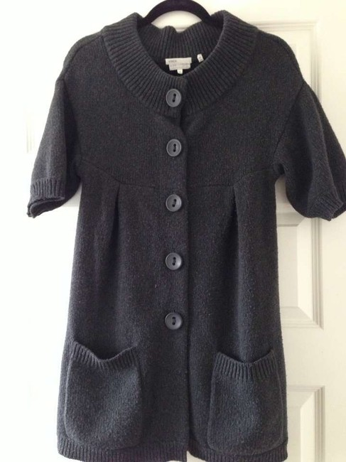 Vince Charcoal Grey Sweater Jacket Maternity Top Size 8 (M, 29) Vince Charcoal Grey Sweater Jacket Maternity Top Size 8 (M, 29) Image 1