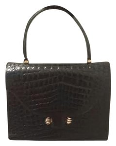 Vintage Jacomo Genuine Alligator Satchel in Black