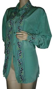 Diane von Furstenberg Button Down Shirt seafoam