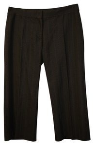 BCBGMAXAZRIA Capris Black with Red Pinstripes
