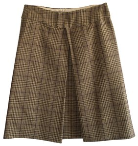 Tara Jarmon Tartan Skirt Beige, dark brown and purple
