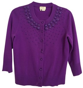 Kate Spade Jewel Tone Embellished Cashmere Work Cardigan