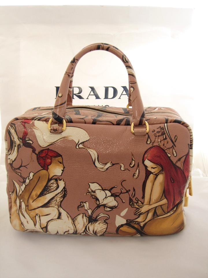 Prada Lux Cervo Print Bowler James Jean Painting Bl0555 Cipria Fairy  Deerskin Leather Tote - Tradesy c1a54854eb6fa