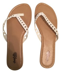 Charlotte Russe 1. White 2. Rainbow Stripes Sandals