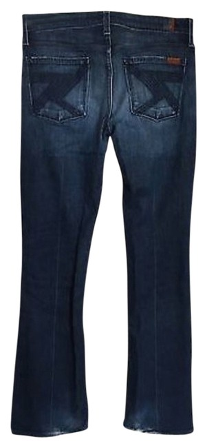 Item - Blue Distressed Flynt Boot Cut Jeans Size 29 (6, M)