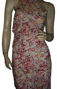 Diane von Furstenberg short dress red orange black on Tradesy