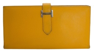 Hermès Hermes Bearn Yellow Wallet