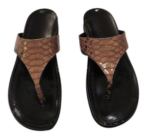 Rebeca Sanver Pattern Contoured Footbed Made In Italy Sand Sandals