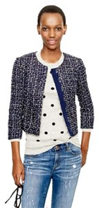 J.Crew Navy Black and Silver Blazer