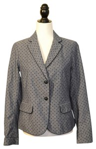 Gap Gray with Black Polka Dots Blazer