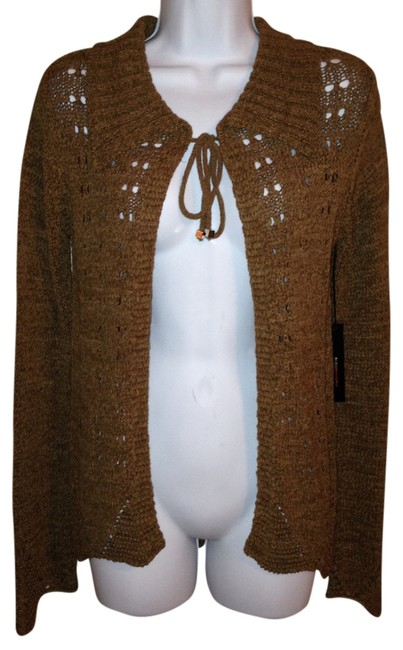 Preload https://item1.tradesy.com/images/bcbgmaxazria-brown-sweater-wrap-small-cardigan-size-6-s-1345910-0-0.jpg?width=400&height=650