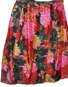 Talbots Silk Floral Bold Print Bright Colors Full Sweep Skirt