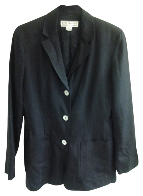 Preload https://item1.tradesy.com/images/saks-fifth-avenue-black-real-clothes-blazer-size-petite-4-s-1345990-0-0.jpg?width=400&height=650