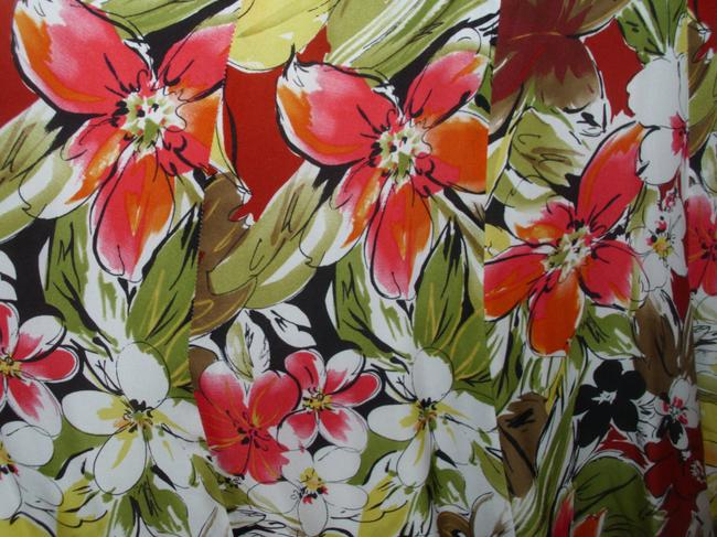 Talbots Floral Bright Colorful Skirt Image 1