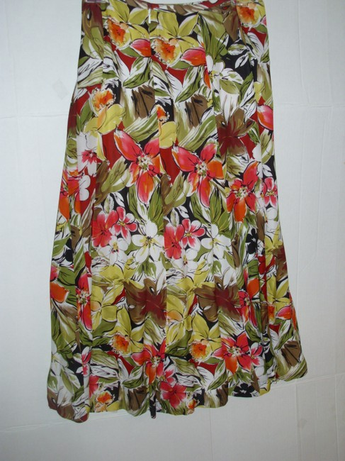 Talbots Floral Bright Colorful Skirt Image 2