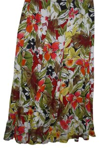 Talbots Silk Floral Bright Colorful Skirt