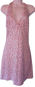 Taboo short dress Multi-Color Pin-up Style Halter Style Cherry Print Sz 5/6 Medium on Tradesy