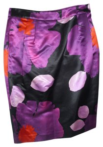 Kate Hill Pencil Geometric Print Big Floral Print Stunning Classy Skirt