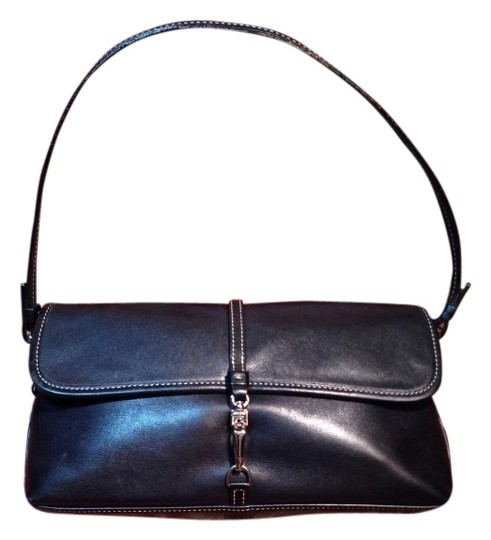 Preload https://item2.tradesy.com/images/coach-demi-bag-with-nickel-hardware-7573-black-leather-baguette-134601-0-1.jpg?width=440&height=440