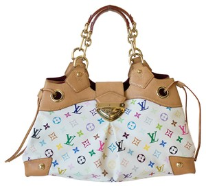 Louis Vuitton Shopping Tote in White Monogram Multicolor