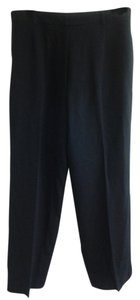 Anne Klein Wool Trouser Pants Black