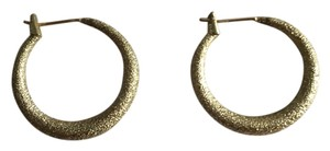 Other Gold Tone Textured Medium Hoop Earrings