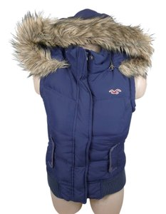 Hollister Puffer Down Faux Fur Vest