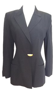 Claude Montana Vintage Made In Italy Classic Black Blazer