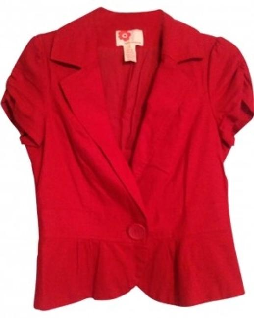 Preload https://item3.tradesy.com/images/forever-21-red-short-sleeve-blazer-size-12-l-134617-0-0.jpg?width=400&height=650
