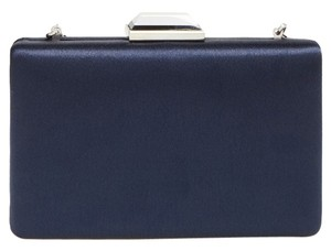 Glint Satin Evening Twilight Blue Clutch